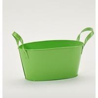 Tavita metalica verde cu toarte