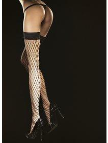 Ciorapi cu banda adeziva din plasa mare Fiore Intensa