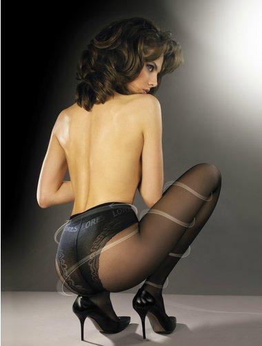 Ciorapi compresivi cu chilot decorat Lores Thin Body 40 den