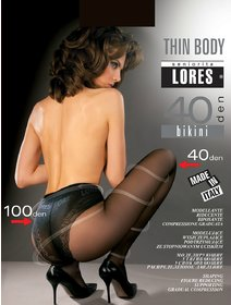 Ciorapi compresivi cu chilot decorat Lores Thin Body 40 den