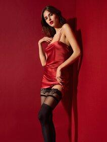 Ciorapi cu banda adeziva si model Fiore Dominique 40 den