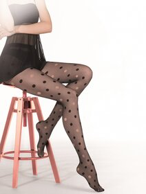 Ciorapi cu buline negre si roz Gatta Funny 07A