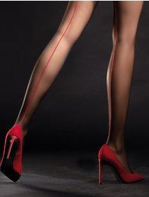 Ciorapi cu dunga rosie Fiore Unique 20 den