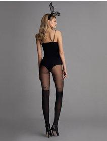 Ciorapi cu fundita si imitatie jambiere Fiore Vintage Bow 40 den