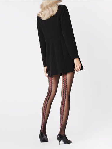 Ciorapi cu model Fiore Corallo 20 den