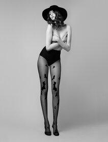 Ciorapi cu model halloween Fiore Hello Gotham 20 den