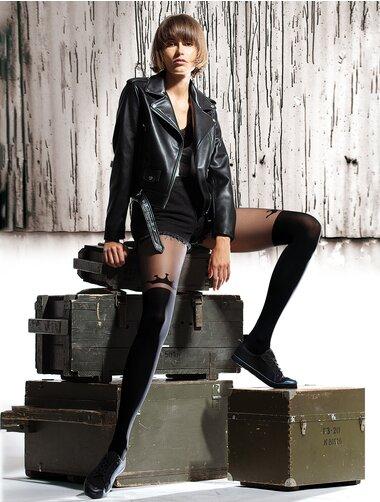 Ciorapi cu model imitatie jambiere Knittex I'm Queen 50 den
