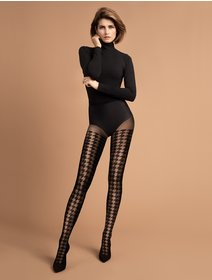 Ciorapi cu model in carouri Fiore Impressa 40 den