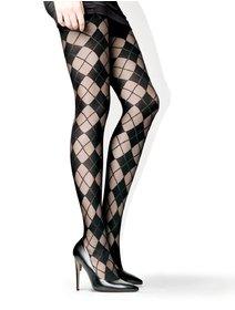 Ciorapi cu model in carouri Lores Julia 40 den
