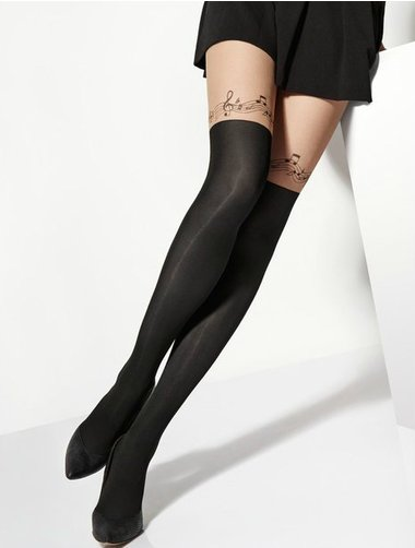 Ciorapi imitatie jambiere cu model Marilyn Zazu Music 40 den