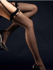 Ciorapi plasa mica pentru portjartier Fiore Burlesque