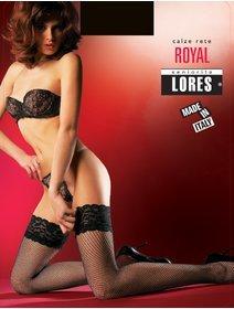 Ciorapi plasa marunta cu banda adeziva Lores Royal