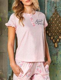 Pijamale bumbac cu model Berrak 894
