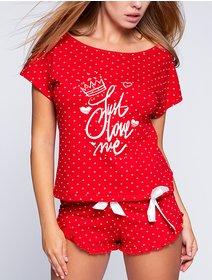 Pijamale bumbac cu picatele Sensis Love Me