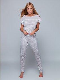 Pijamale bumbac cu picatele Sensis Noemi