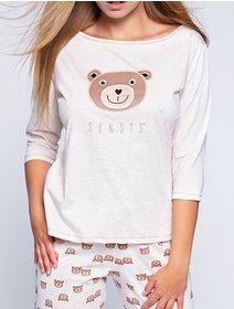 Pijamale bumbac cu ursuleti Sensis Bear