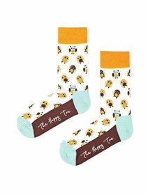 Sosete colorate cu bufnite The Happy Toe Owlets