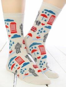 Sosete colorate cu Londra Socks Concept SC-1868