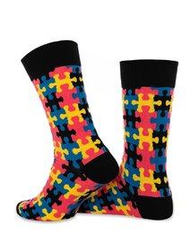 Sosete colorate cu model puzzle Socks Concept SC-1855