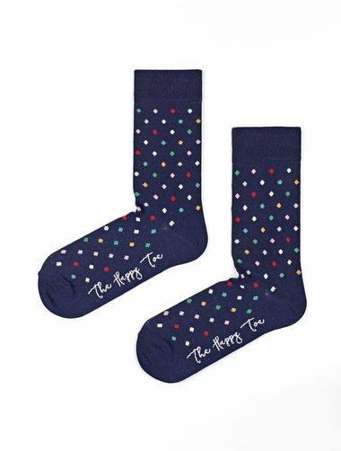 Sosete cu buline colorate The Happy Toe Small Dots Navy