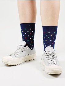 Sosete cu buline colorate The Happy Toe Small Dots Navy