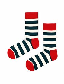 Sosete cu dungi The Happy Toe Just Stripes Marine
