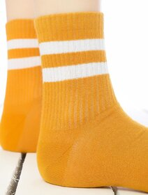 Sosete galbene cu dungi albe Socks Concept 198BRG-3