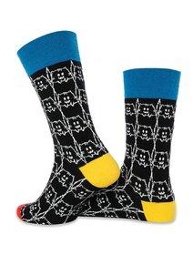Sosete negre cu contur de pisica Socks Concept SC-1880