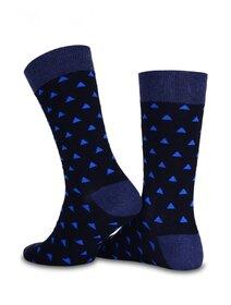 Sosete negre cu model triunghiuri albastre Socks Concept SC-1521
