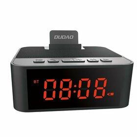 Boxa multifuntionala Bluetooth Dudao AUX cu Suport telefon, Ceas desteptator, Micro SD, Radio FM Black