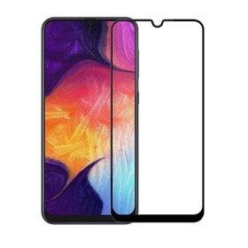Folie de sticla (Tempered Glass) Premium cu margini colorate pentru Galaxy A40