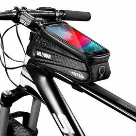 Geanta impermeabila bicicleta cu suport telefon SAKWA WILDMAN L Black