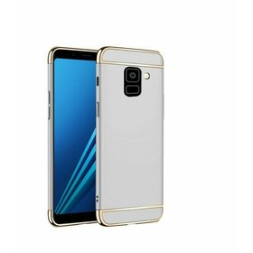 Husa 3 in 1 Luxury pentru Galaxy A6 (2018) Silver