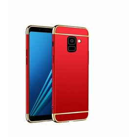 Husa 3 in 1 Luxury pentru Galaxy A6 (2018) Red