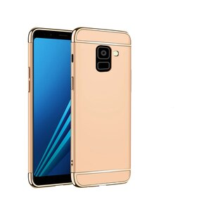 Husa 3 in 1 Luxury pentru Galaxy A8 (2018) Gold