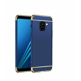Husa 3 in 1 Luxury pentru Galaxy J6 Plus (2018) Blue