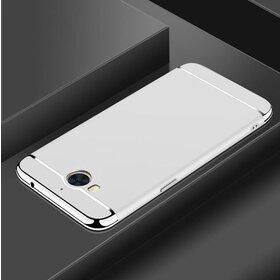 Husa 3 in 1 Luxury pentru Huawei Y6 (2017) Silver