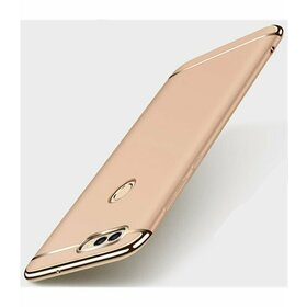 Husa 3 in 1 Luxury pentru Huawei Y6 (2018)/ Y6 Prime (2018) Gold