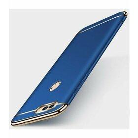 Husa 3 in 1 Luxury pentru Huawei Y6 (2018)/ Y6 Prime (2018) Blue