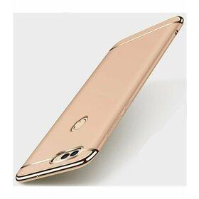 Husa 3 in 1 Luxury pentru Huawei Y6 Pro 2017/ P9 Lite Mini Gold