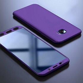 Husa 360 pentru Galaxy S6 Edge Purple
