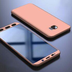 Husa 360 pentru Galaxy S6 Edge Rose Gold