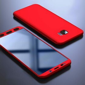 Husa 360 pentru Galaxy S7 Red