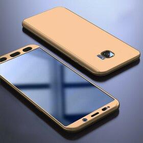 Husa 360 pentru Galaxy S7 Gold