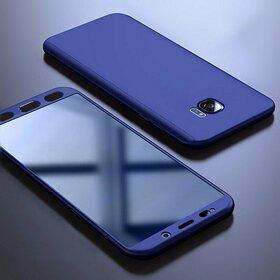 Husa 360 pentru Galaxy S7 Edge Navy