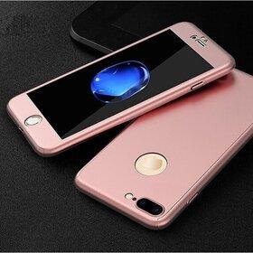 Husa 360 pentru iPhone 7 Plus Rose Gold