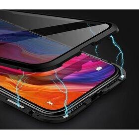 Husa 360 Magnetica cu Sticla Anti Spionaj fata + spate pentru iPhone XS Max Black