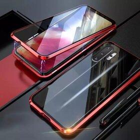 Husa 360 Magnetica cu Sticla fata + spate pentru Galaxy Note 10 Plus Red
