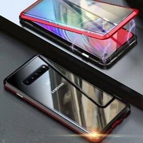 Husa 360 Magnetica cu Sticla fata + spate pentru Galaxy S10 Red