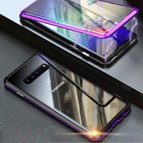 Husa 360 Magnetica cu Sticla fata + spate pentru Galaxy S10 Plus Purple